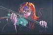 Strings of Blues, painting by DC Langer
